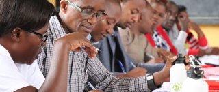 School leaders in a training on Effective School Leadership