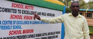 Head Teacher Janvier Ntakirutimana led the process of setting the school vision and mission