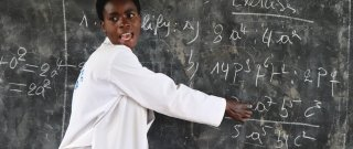 Mrs Marie Solange Nyirazaninka teaching maths