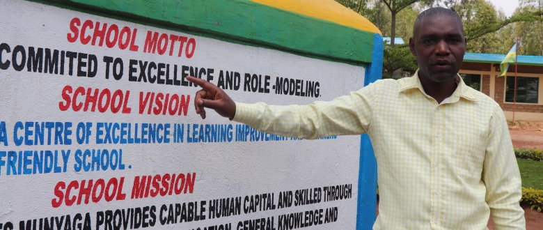 Head Teacher Janvier Ntakirutimana led the process of setting the school vision and mission