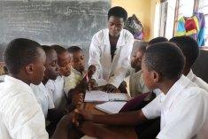 Mrs Nyirazaninka teaching maths