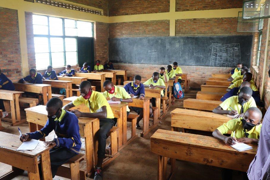 Class of Cyinzovu Secondary School, eastern Rwanda